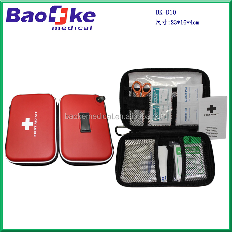 BK-D10 hot selling Team sports survival first aid kit eva first aid case with medical products