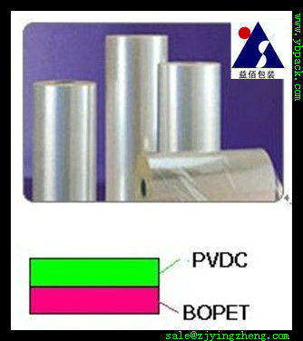 clear pet film roll coated pvdc