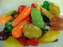 Quality artifical vegetables and fruits OEM factory