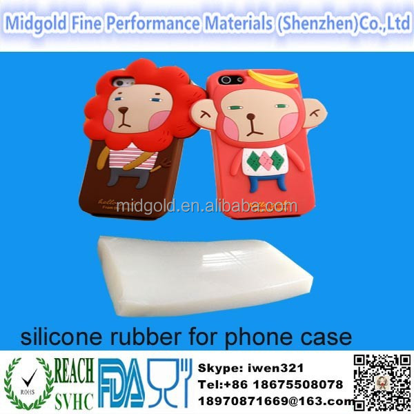 Mold making silicone rubber for 3D cartoon phone case for iphone 6
