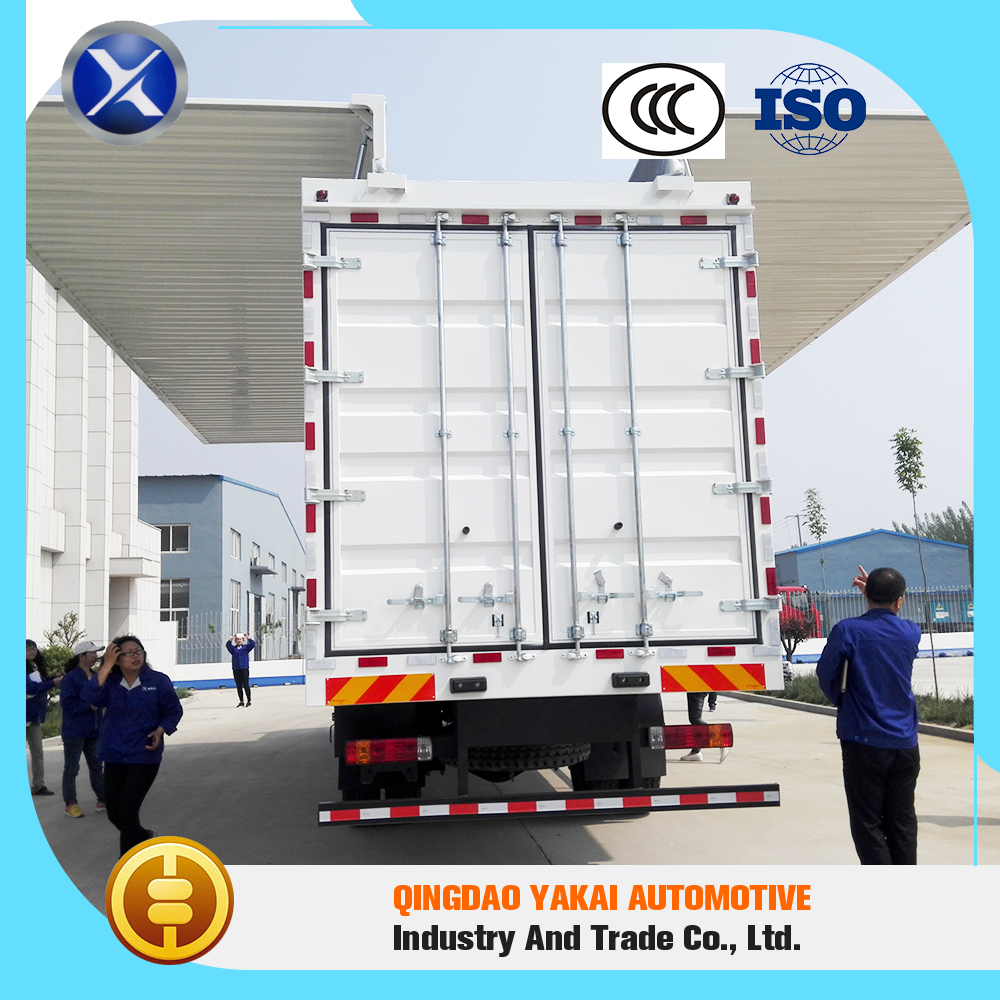 Advanced equipment standard cargo box van wing open semi trailer truck body price