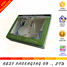 promotion cheap PVC window food grade paper laminated brownies box