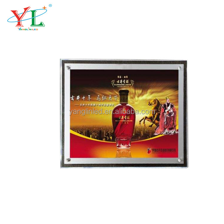 Made in china <strong>LED</strong> Crystal Advertising Super Slim Light box