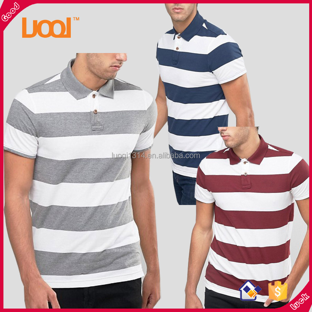 100% Cotton Mens Polo T Shirts Custom Leisure Wear Black Cheap Polo Shirt