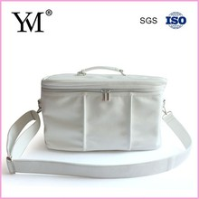 popular travel use leather cosmetic tool carry bag