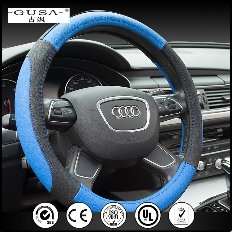 Export innovative accessories truck boat leather car steering wheel cover made in China