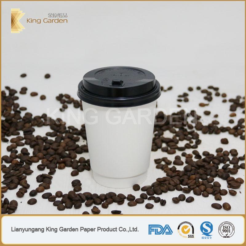 PE coated disposable hot drink blank paper cups by king garden