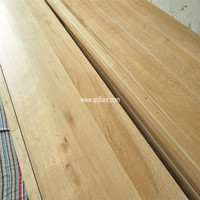solid stair tread oak / wood stair treads / lime wash oak flooring