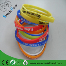 Debossed ink filled 6mm silicone wristband school children cheap rubber wristband /bracelet