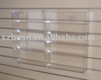 Wall Mounted Acrylic Display Shelf,Plexiglass Book Stand,Lucite Shoes Holder