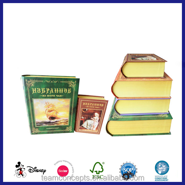 Handmade custom decorative fake book gift box wholesale