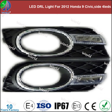 Especial led drl light, con función de giro, blanco, led drl para 2012 honda civic 9, lado 4 leds