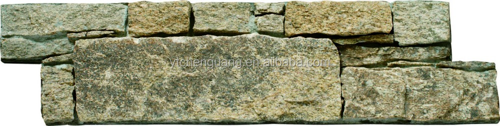 Decorative z shape stacked natural stone wall cladding