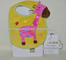 2014 fancy baby bibs with cute giraff <strong>animal</strong> on it samll quantity accept