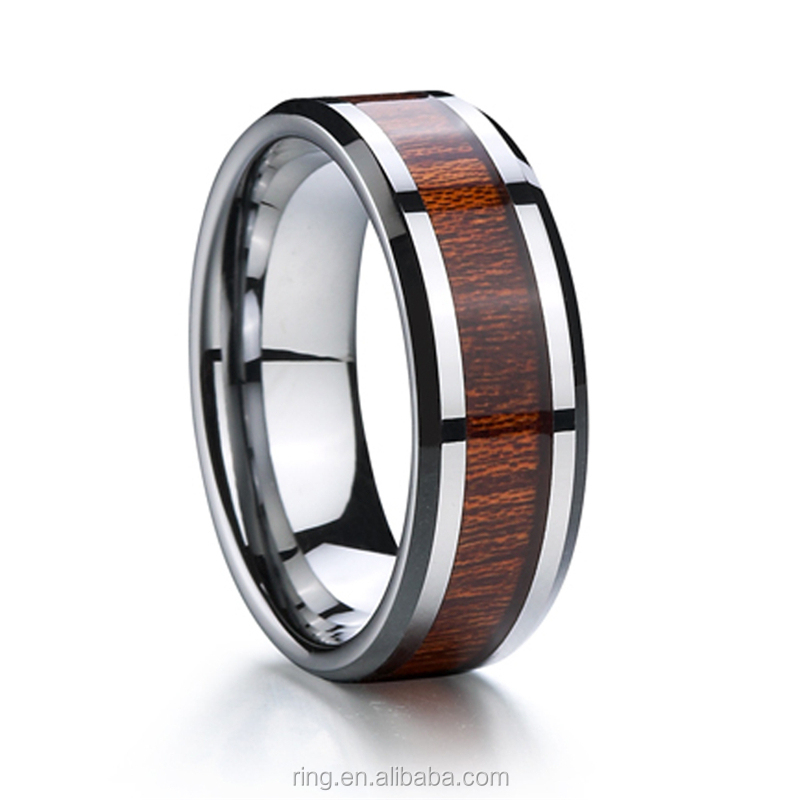 Fashion jewelry men jewelry titanlum wood rings for gift Wholesale