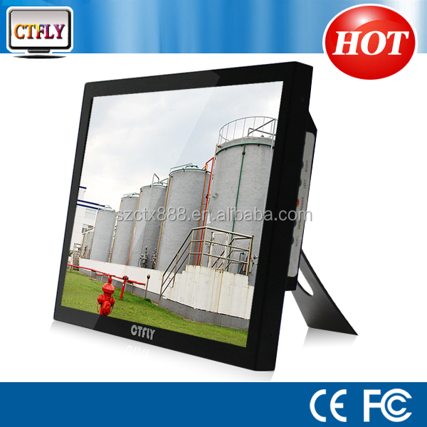 double sided lcd vertical advertising monitor19 inch square lcd monitor with high brightness