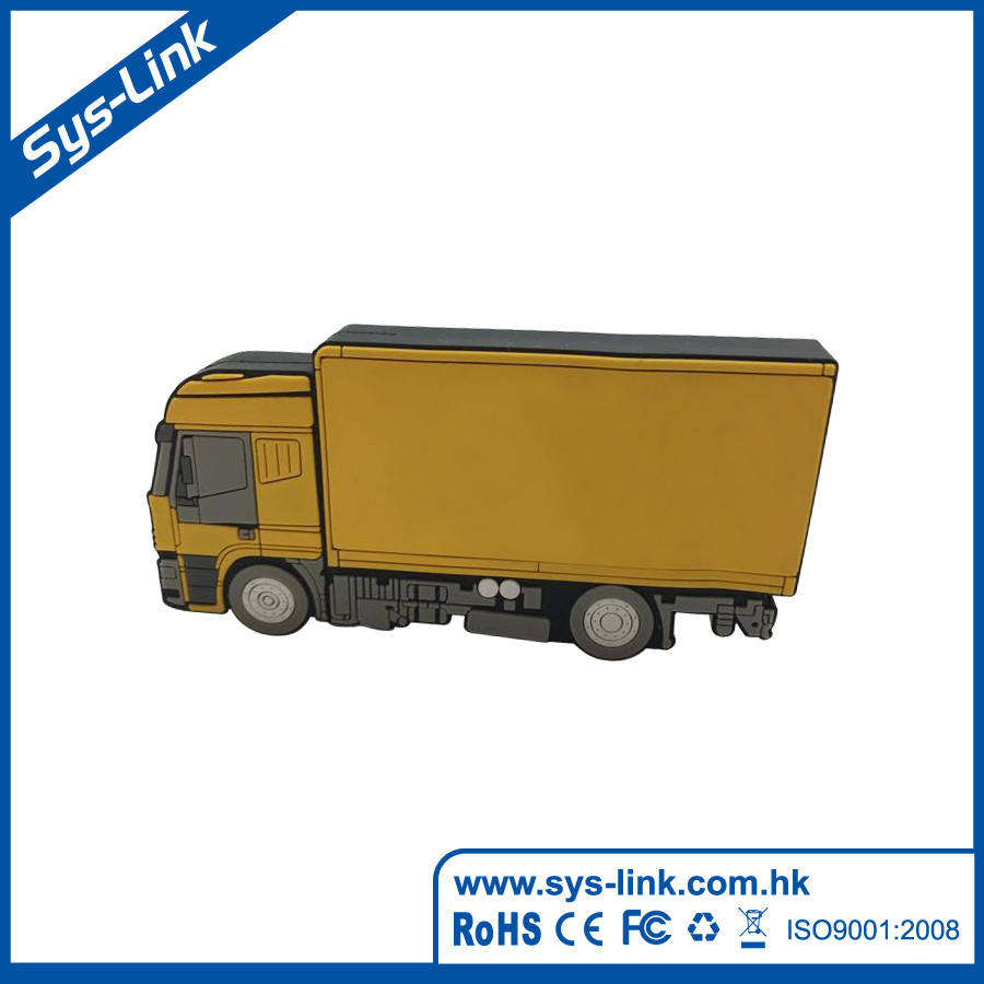 Manufacturer 2D Custom Truck shaped USB Flash Drive, USB Key