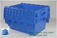 new pp plastic stackable nestable logistic container storage box industrial use