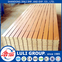 slotted MDF board melamine slotted MDF board grooved MDF from China LULIGROUP