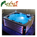 2018 5 people luxurious outdoor swim spa bathtub for home and hotel with LED light jets