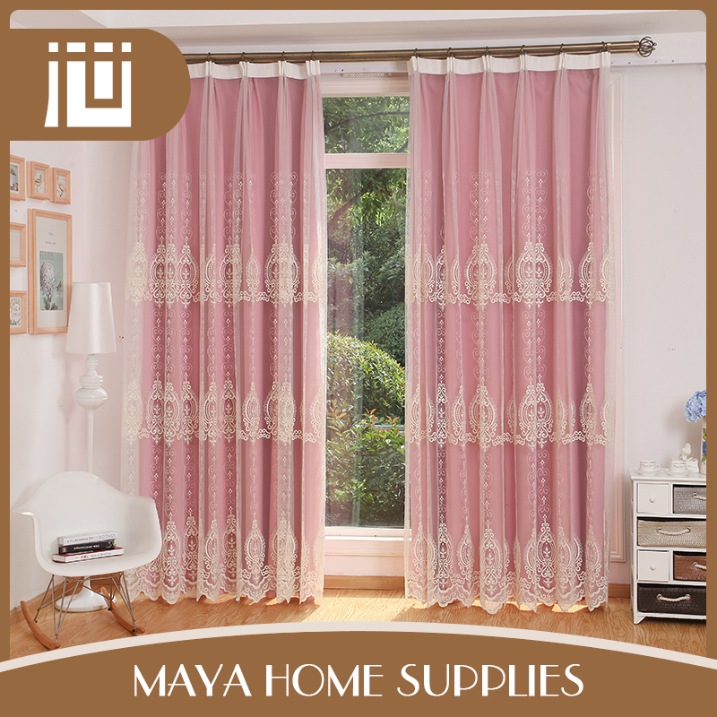 High quality fashionable commercial blackout indian silk curtains