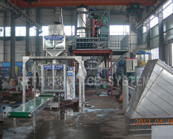 Industrial Tube ice Plant With Packing Machine 25T