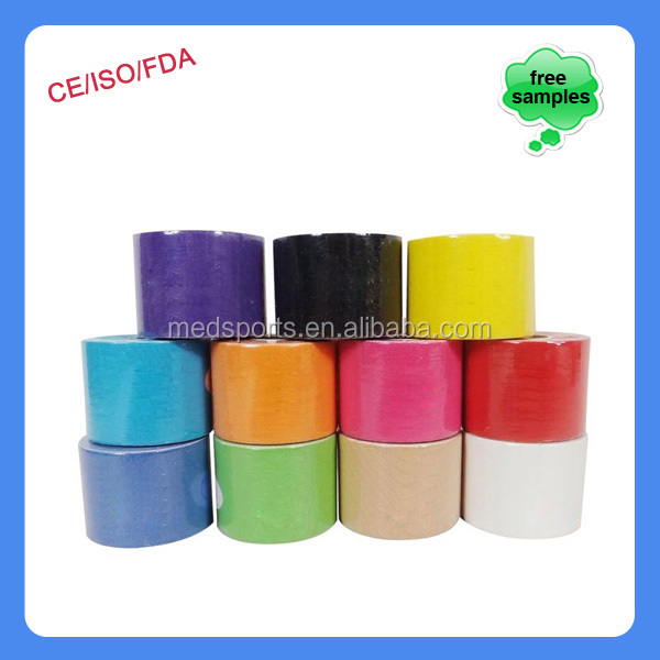 China supplier sporting goods Latex Free athletic sports tape for Quad Strain Taping