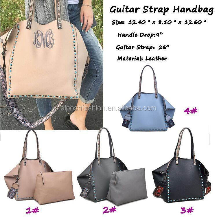 Fashion Monogram Lether Guitar Strape Handbag