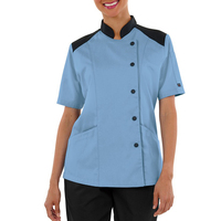 65/35 Poly/Cotton Women's Half Back Mesh Chef Coat Asian Style