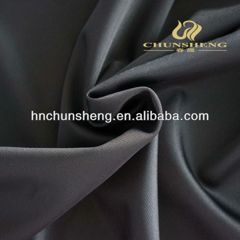 black color polyester tricot DTY super poly plain fabric for sofa seat cover,sportwear,home textile,curtain,lining