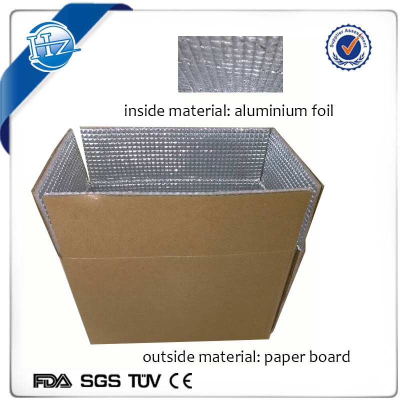 Insulated cooler box liner bag Frozen food shipping boxes foil insulated cardboard boxes