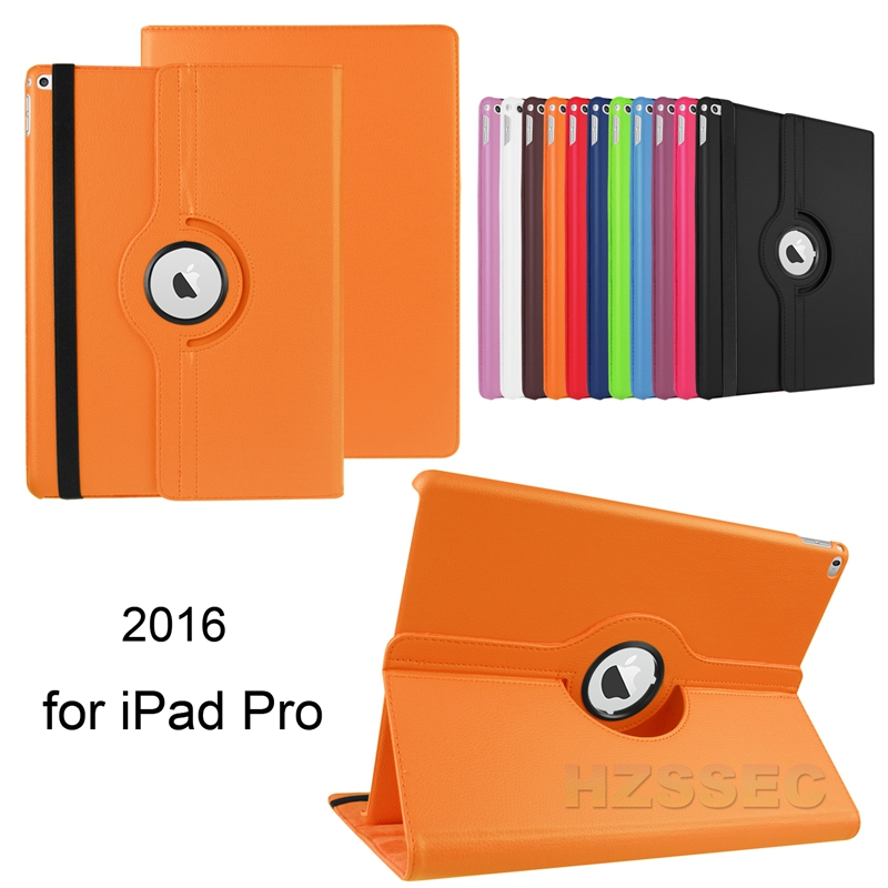 360 Degrees Slim Rotating Stand Leather Case Cover for Apple Ipad with Auto Sleep Wake Feature