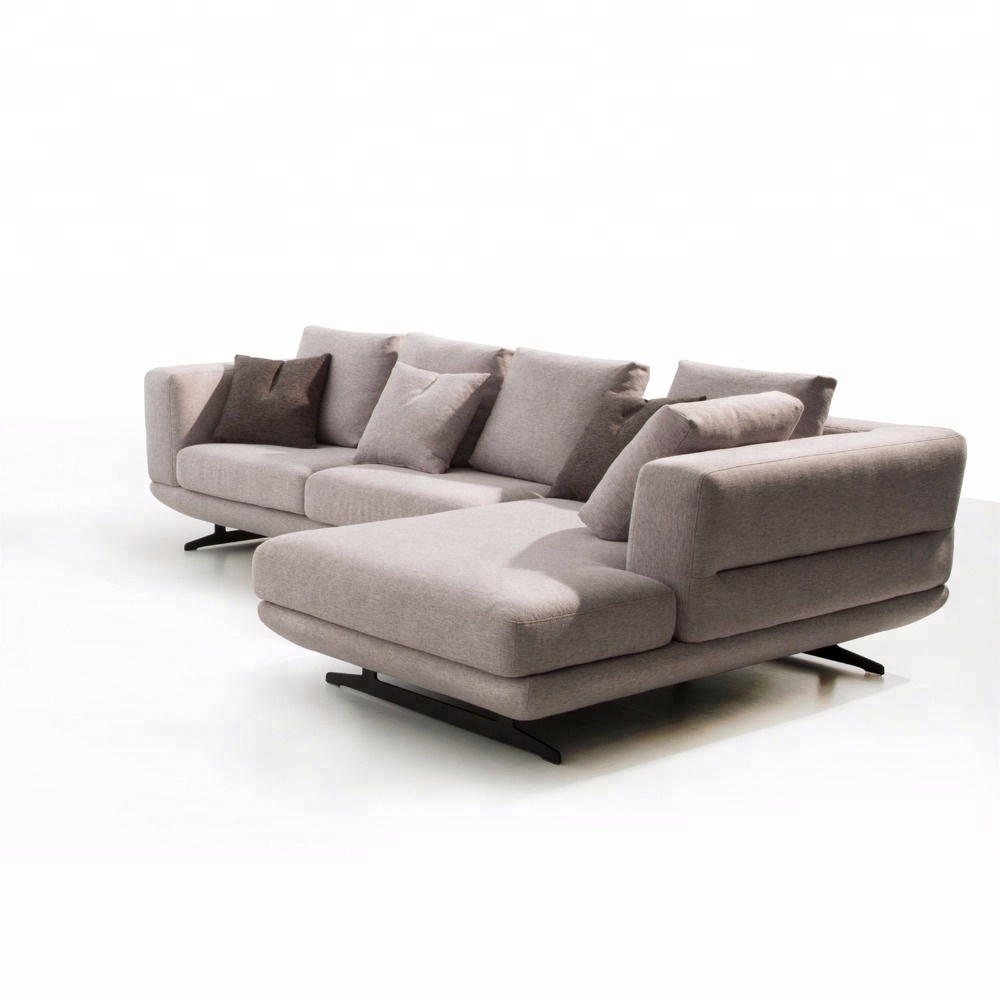 Contemporary Grey Deep Seat Small Tufted Sectional Sofa With Chaise Lounge  - Buy Grey Deep Sofa,Chaise Lounge Sectional Sofa,Grey Deep Chaise Lounge  ...