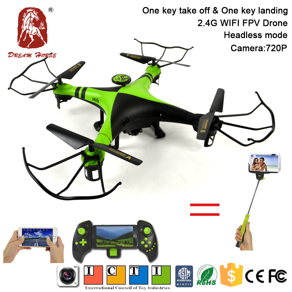 Selfie drone 2.4g fpv rc drone 1080p camera 720p with 6axis stabilization system
