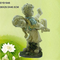 Hand carved outdoor children garden statue for sale.