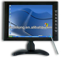10.4 inch touch monitor with VGA for Taxi lcd tv advertising