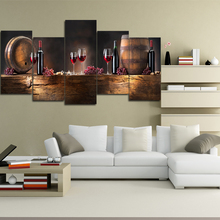 High Quality Frameless 5panels canvas art home wall decor printed printings