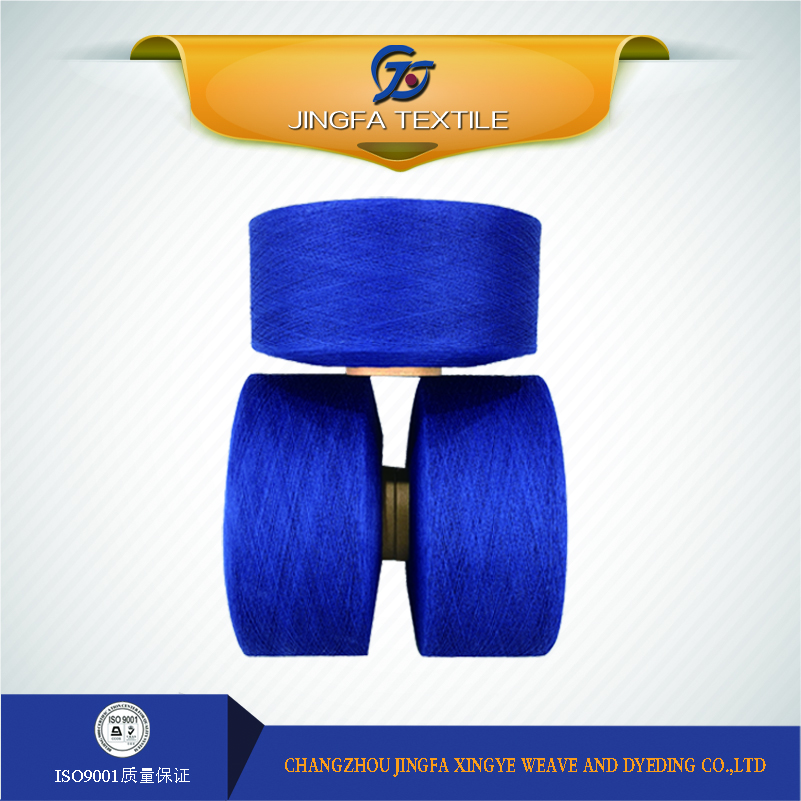Customized rope dyeing carded yarn type for knitting oe indigo