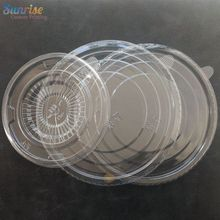 Food Container Disposable Round Shape PET Plastic Bowl Lid