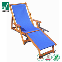 High quality wooden deck chair frame folding canvas sling chairs indoor deck chair