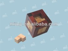 Mini Chinese Magic Trick Wooden Puzzle Box with 2 Secret Drawer