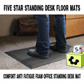 FIVE STAR Comfort Anti Fatigue Foam Office Standing Mat