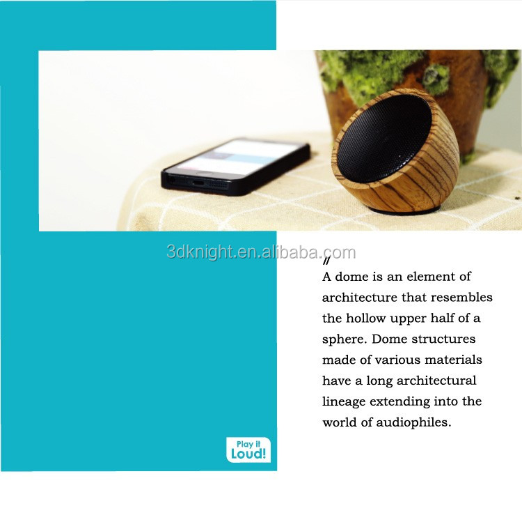 High Quality Bamboo Bluetooth Speaker Wooden Wireless Speaker Mini Wood Speaker Portable