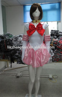 Cheap Plus size manufacturer New Cute Sexy Anime Pink Sailor Moon Rini Chibi Costume Lingerie