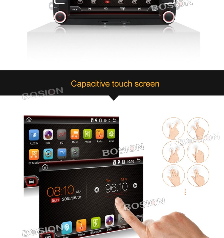 Double Din Audio System Android Car Radio with GPS for Skoda Octavia