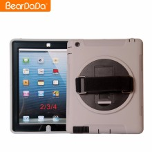 Promotional mobile phone case 360 Degree Rotating hand strap for ipad 2 shock proof case