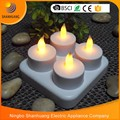 Factory rohs 4pcs set cheap LED candle tea light Rechargeable led candle