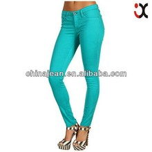 2015 cheap sexy colored skinny ladies latest fashion jeans JXQ136