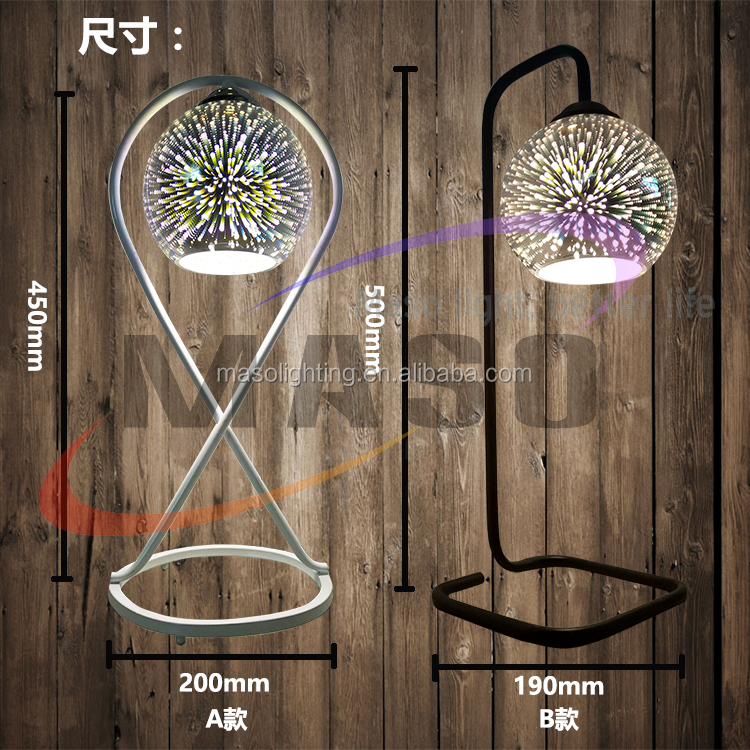 Vintage Firework Metal Table Lamp Creative 3D Designed Children Bedroom Gift Table Lamp with CE ROHS UL Approved