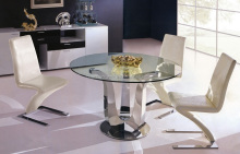 High Quality Glass Top Round Dining Room Table